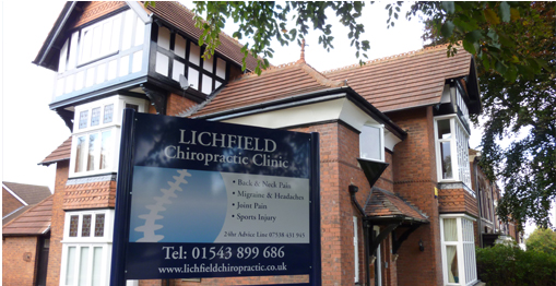 Outside Lichfield Chiropractic Clinic